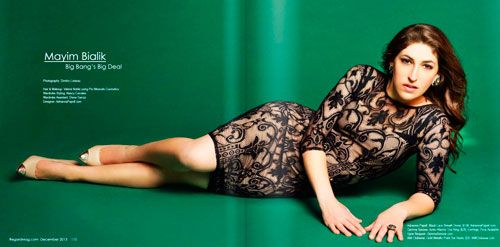 mayim bialik regard magazine fashion shoot I love the lace dress!