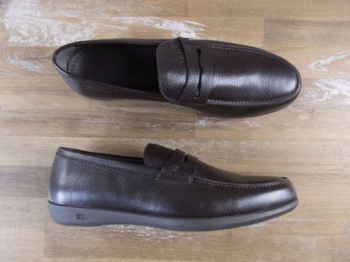 auth ERMENEGILDO ZEGNA brown loafers shoes - Size 10.5 US / 9.5 UK / 43.5 EU