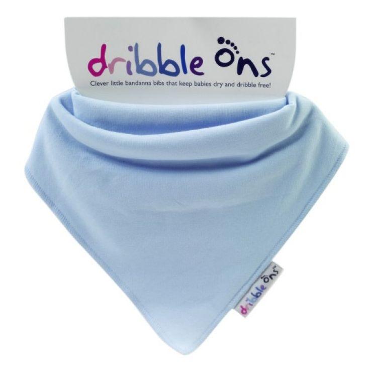 Dribble Ons Dribble Bib Baby Blue