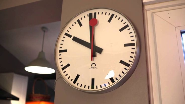 8 best wall clocks images on pinterest wall clocks electric and ibm - Swiss railway wall clock ...