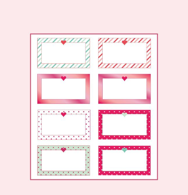 Love Notes Template Valentine Notes Printable Notes Templates