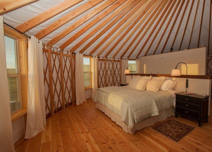 1000 ideas about yurt interior on pinterest yurts yurt for Yurt bathroom designs