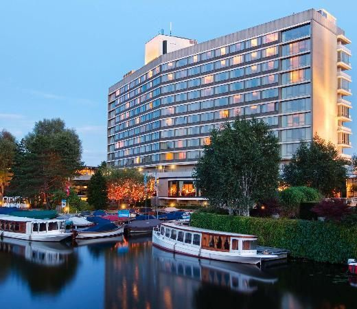Rehberg stayed at the exclusive Hilton Amsterdam while traveling in the Netherlands.