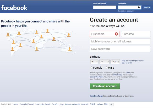 How Do I Open Or Create New Facebook Account