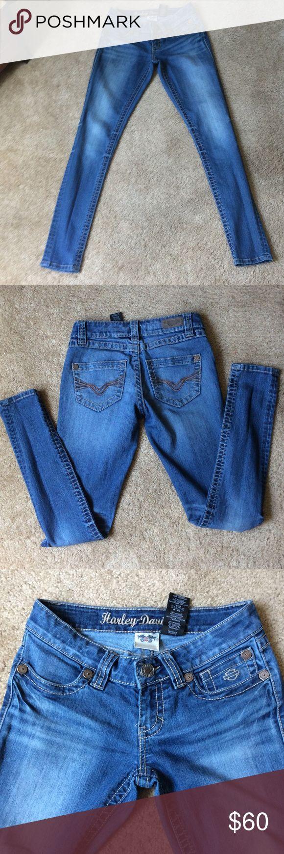"Harley Davidson jeans Skinny stretch new condition size 2 ,inseam 30"" Harley-Davidson Jeans Skinny"