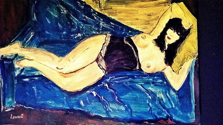 Blue repose!! 30x42cm,by Ramoness