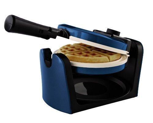 Oster CKSTWFBF10WB-ECO DuraCeramic Flip Waffle Maker Blue