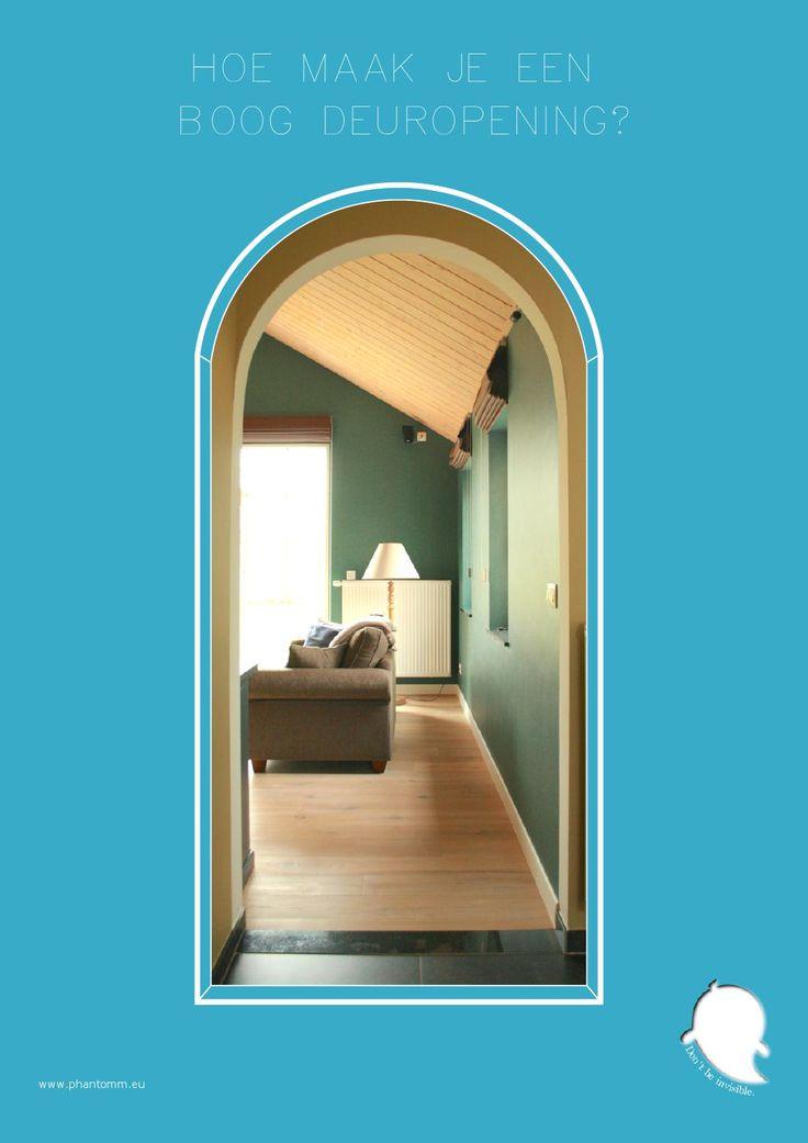 Hoe maak ik een boog deuropening?  Met deze instructies kom je te weten hoe je op een eenvoudige manier een boog deuropening kan maken. Dit heeft direct extra cachet aan de ruimte. veel plezier met deze DIY (Do-It-Yourself) instructies.