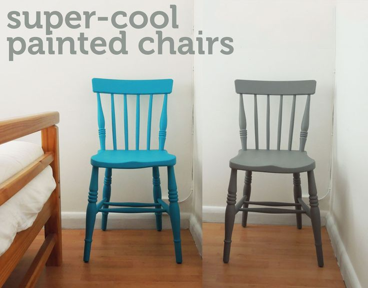 I have couple of old wooden chairs kicking about which I thought would look amazing if they were given a bit of TLC, so I decided to paint them in some new, fresh colours. Here's how:   …