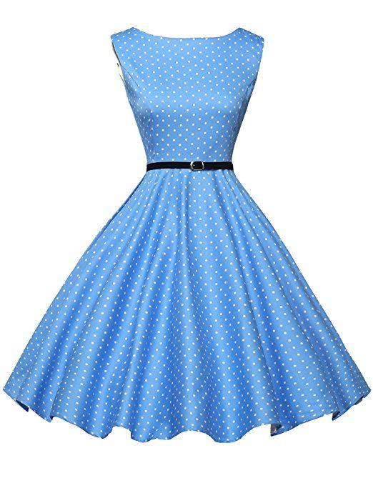 1950er retro kleid Audrey Hepburn Schwingen Pinup Polka Dots rockabilly kleid vintage kleid XS