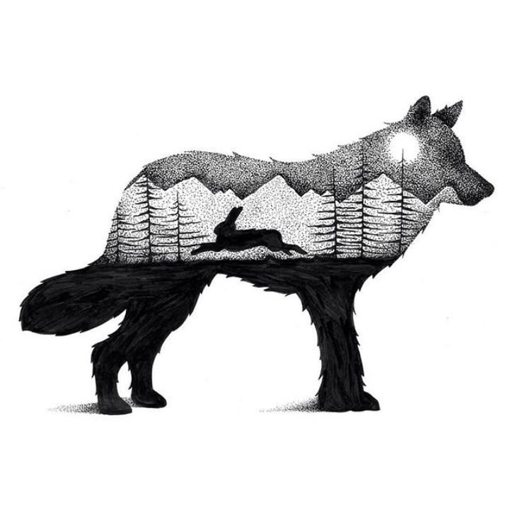 Wilderness Scenes Illustrated within Striking Animal Silhouettes - My Modern Met
