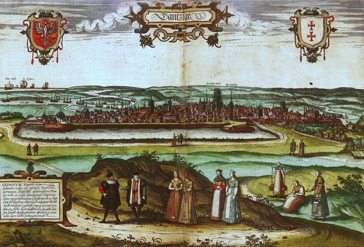 View of Gdańsk win 1575.