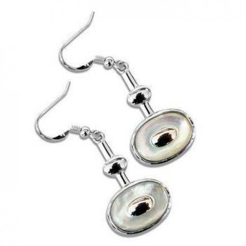 Mother of Pearl Drop Earrings by Tania Tupu