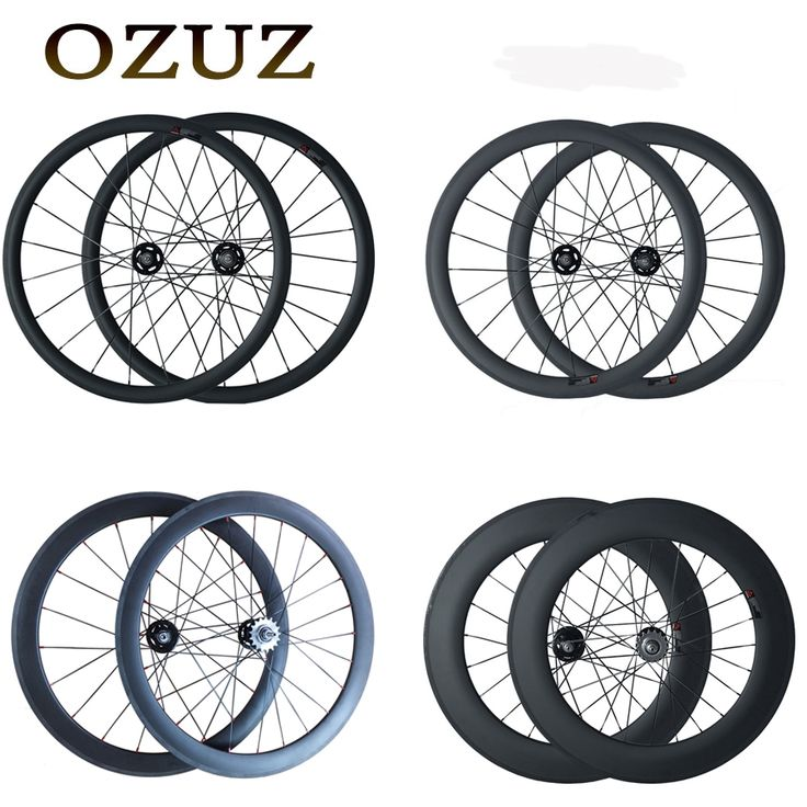 269.78$  Watch now - http://ait2q.worlditems.win/all/product.php?id=32790529134 - 700C OZUZ 38mm 50mm 60mm 88mm Clincher Tubular Carbon Fiber Carbon Track Bike Wheels Fixed Gear Single Speed Bicycle Wheelset