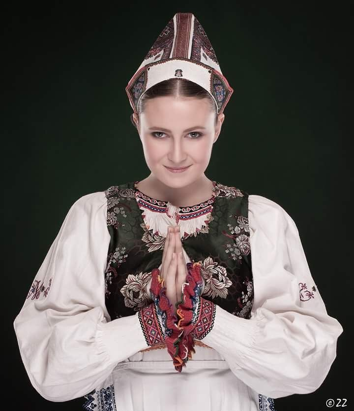 Folk costume from Polomka in Slovakia