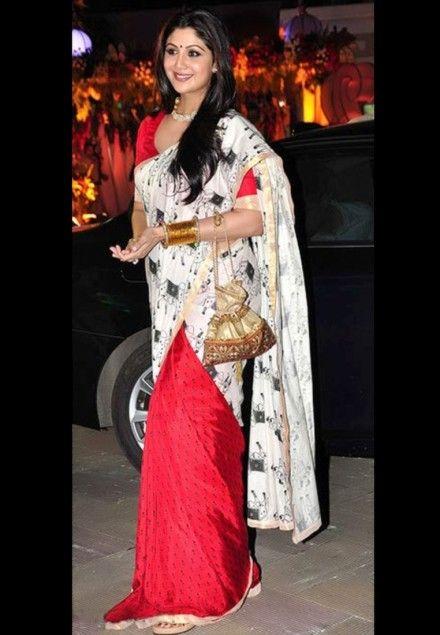 Shilpa Shetty in #Silk #Bollywood-Saree
