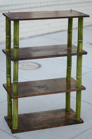 Classic contemporary bamboo shelves by DistrictBamboo on Etsy, $125.00