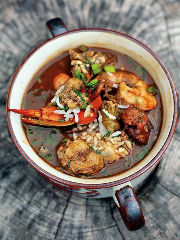 Super Bowl Sunday Seafood Gumbo #recipe #superbowl