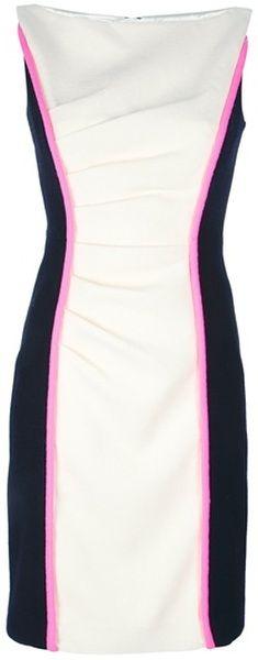 Color Block Dress - Lyst