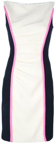 Color Block Dress - Lyst