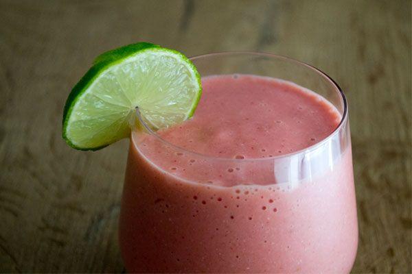 Power smoothie: aardbei, mango