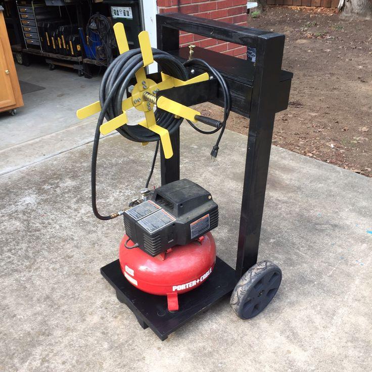 Air Compressor cart Air tools, Air compressor,