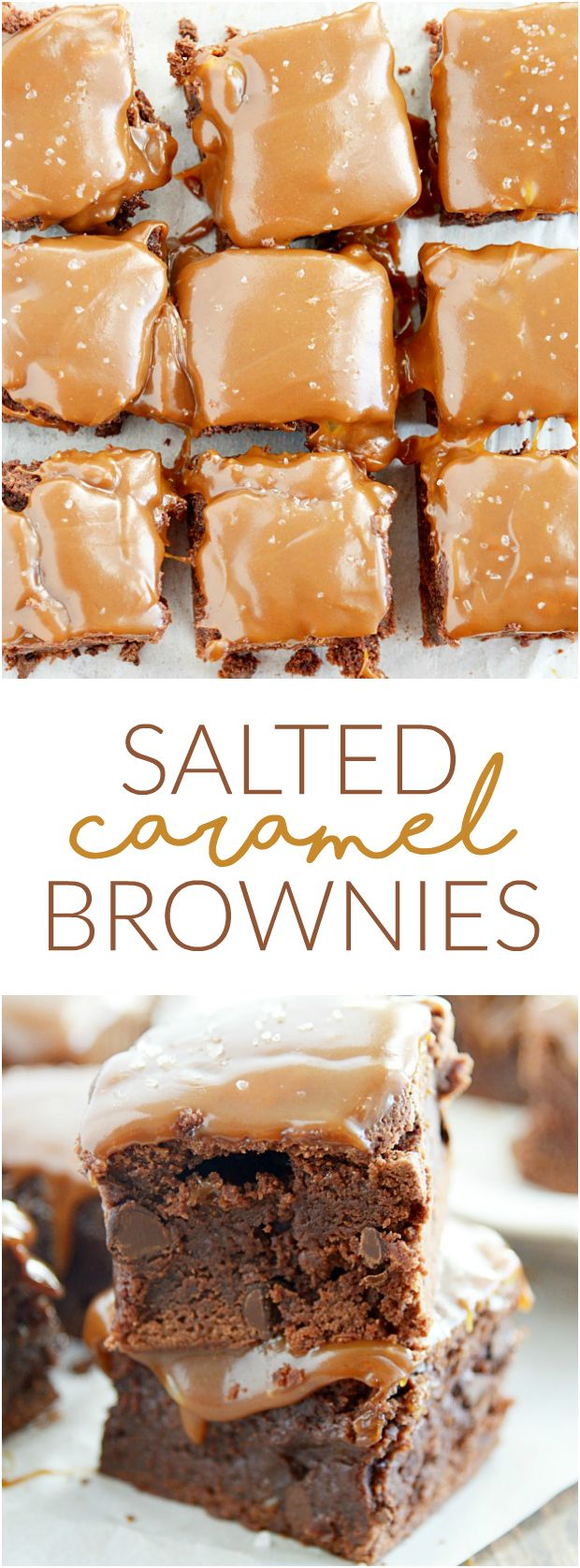 Salted Caramel Brownies are easier than you think to make and are so delicious. These are THE BEST!