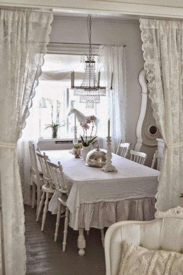 ❤(¯`★´¯)Shabby Chic 2(¯`★´¯)°❤ ...White and Shabby Chic Dining Room.
