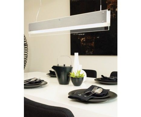 Sayama 1 Light Pendant In Brushed Chrome And Frosted Glass