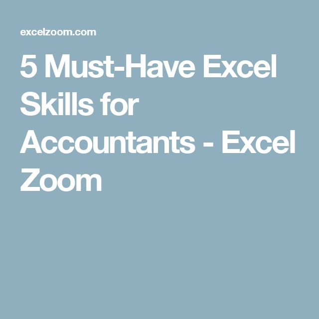 5 Must-Have Excel Skills for Accountants - Excel Zoom