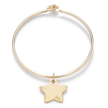 Star pendant on a Penelope bracelet : 56£ #lilou #christmas #star #goldplated #penelope #present