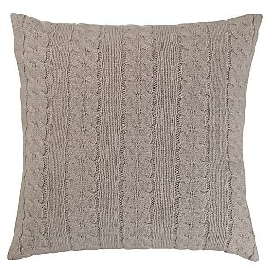Cable knit cushion cover.