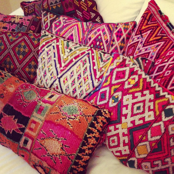 Antique and Vintage kilim cushions stuffed and ready to sell!