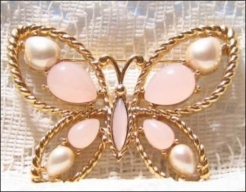 Vintage Butterfly Brooch by Trifari by VVintage for $19.99
