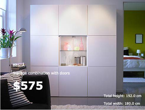 IKEA Besta Hochschränke mit Ablage