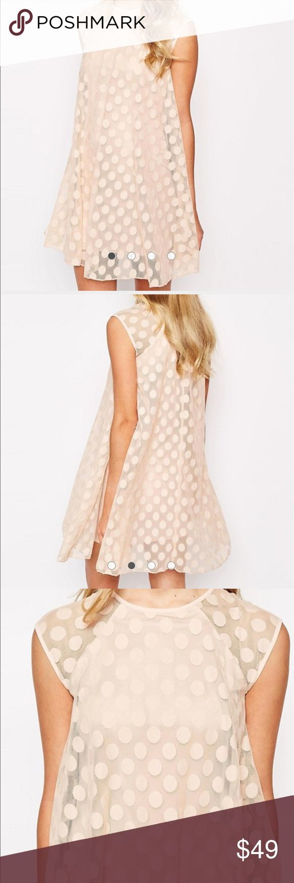 River Island Mesh Spotty Swing Dress River Island Mesh Spotty Swing Dress new with tags! Perfect for that spring or summer bridal or baby shower that'll be here before you know it! River Island Dresses Mini