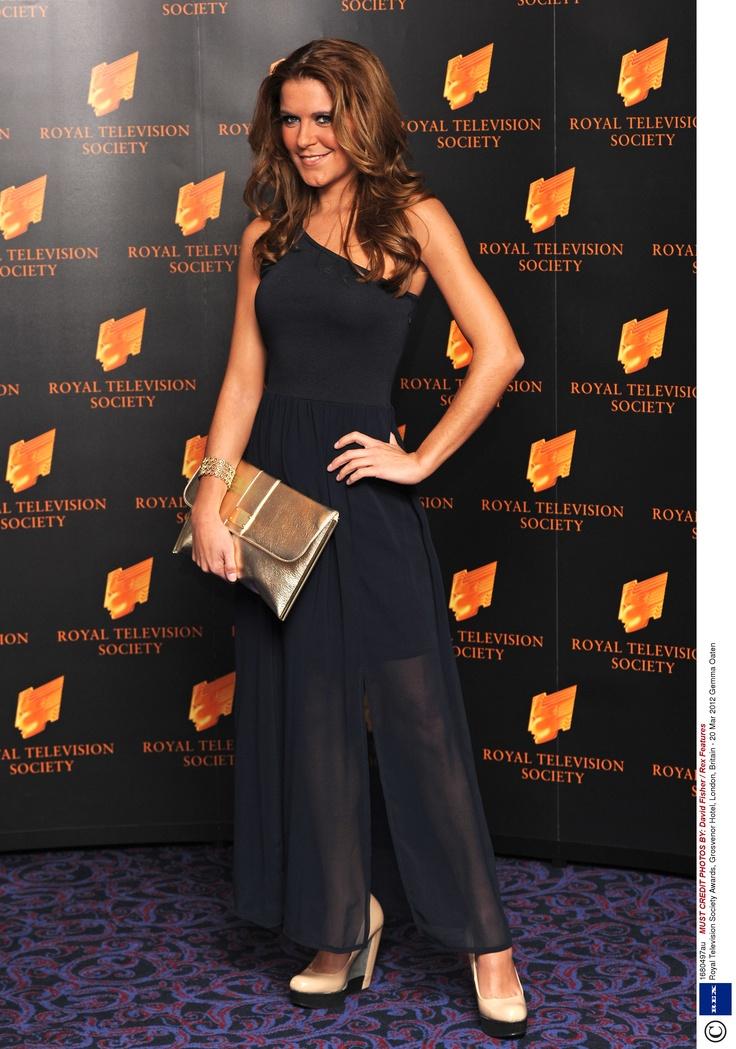 Gemma Oaten wearing the Miss Selfridge One Shoulder Maxi