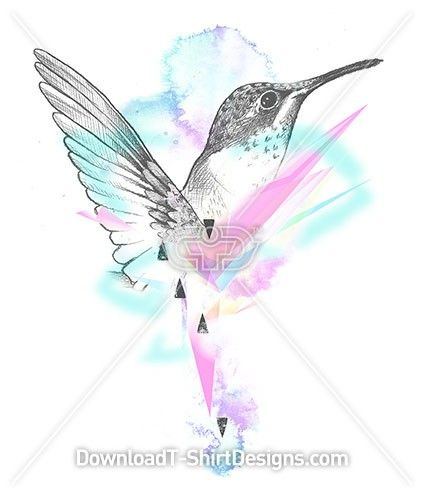 Beautiful Pastel Painted Hummingbird. Download this design and print on your T-Shirts or products today at: http://downloadt-shirtdesigns.com/downloadt-shirtdesigns-com-2122874.html