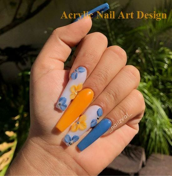 Amazing And Freash Acrylic Coffin Nails Art…