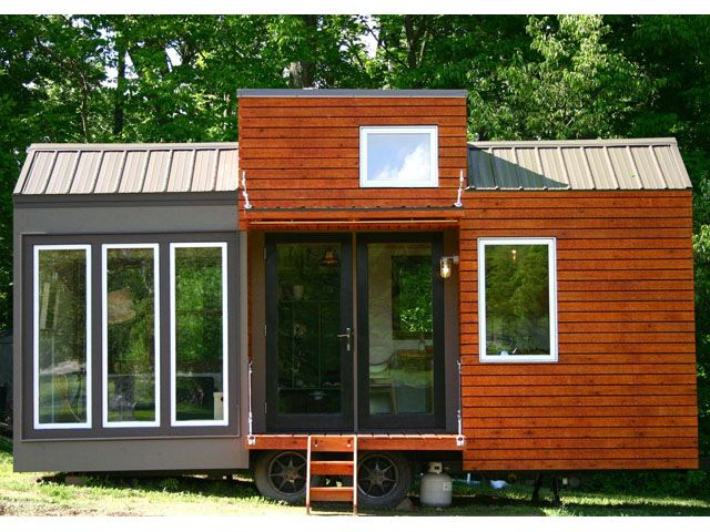 Rustic Modern Tiny House -  Click through to see pictures of the inside - it's beautiful. the whole website is fun to poke through!