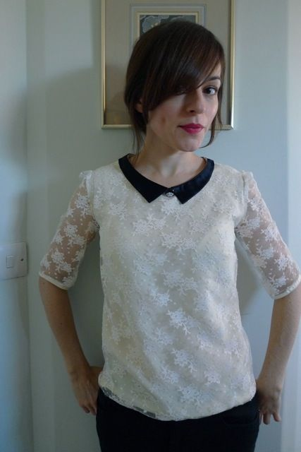{tilly and the buttons' refashioned lace blouse} from a skirt. one of the things I'm looking forward to as I learn to sew is being able to take out-of-use items and revive them.