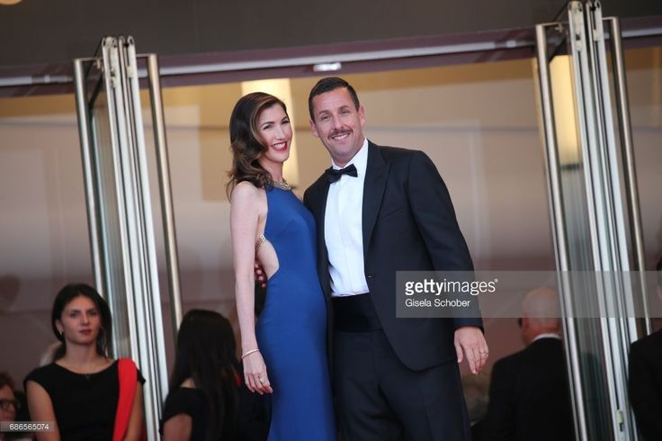 Jackie Sandler and Adam Sandler attend the 'The Meyerowitz Stories' screening during the 70th annual Cannes Film Festival at Palais des Festivals on May 21, 2017 in Cannes, France.