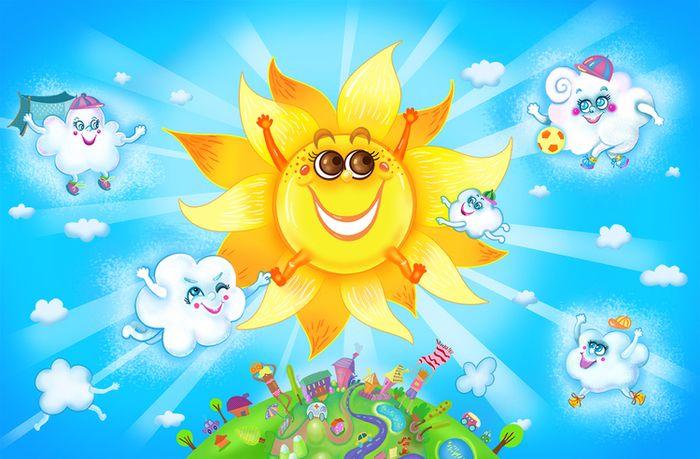Детские солнечные картинки