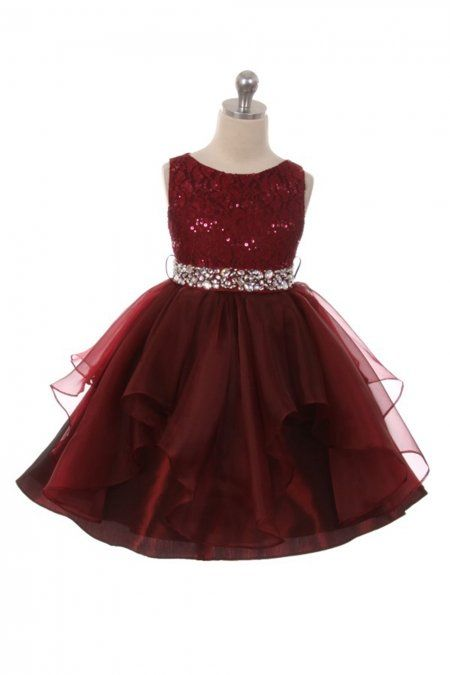94597c6323c Burgundy+Embroidered+Sequin+Stretch+Dress +MB-357-BG+on+www.GirlsDressLine.Com