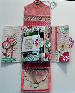 Hej på er!  Här kommer en stolthet... :) skapad av Teresa Collins underbara papper ur serierna: Spring Fling ,  Fabrications, Celebrate ....