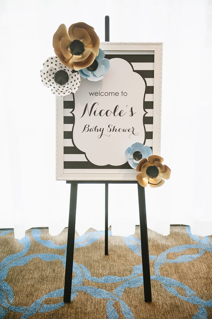 bridal shower themes for spring%0A Kate Spade Inspired Baby Shower   The Little Umbrella