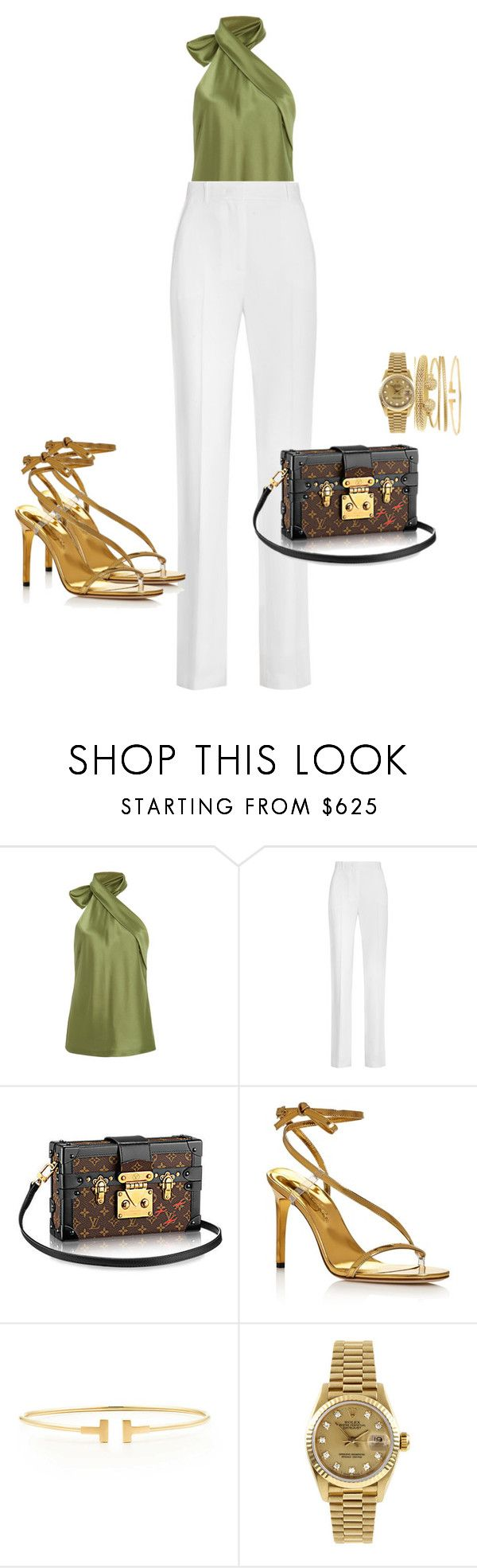 """Satin..."" by styledbyphyllis ❤ liked on Polyvore featuring Galvan, Givenchy, Oscar de la Renta, Tiffany & Co. and Rolex"