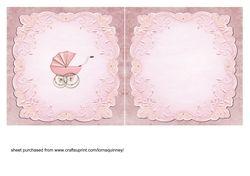 Pink Pram Baby Girl Insert on Craftsuprint - View Now!