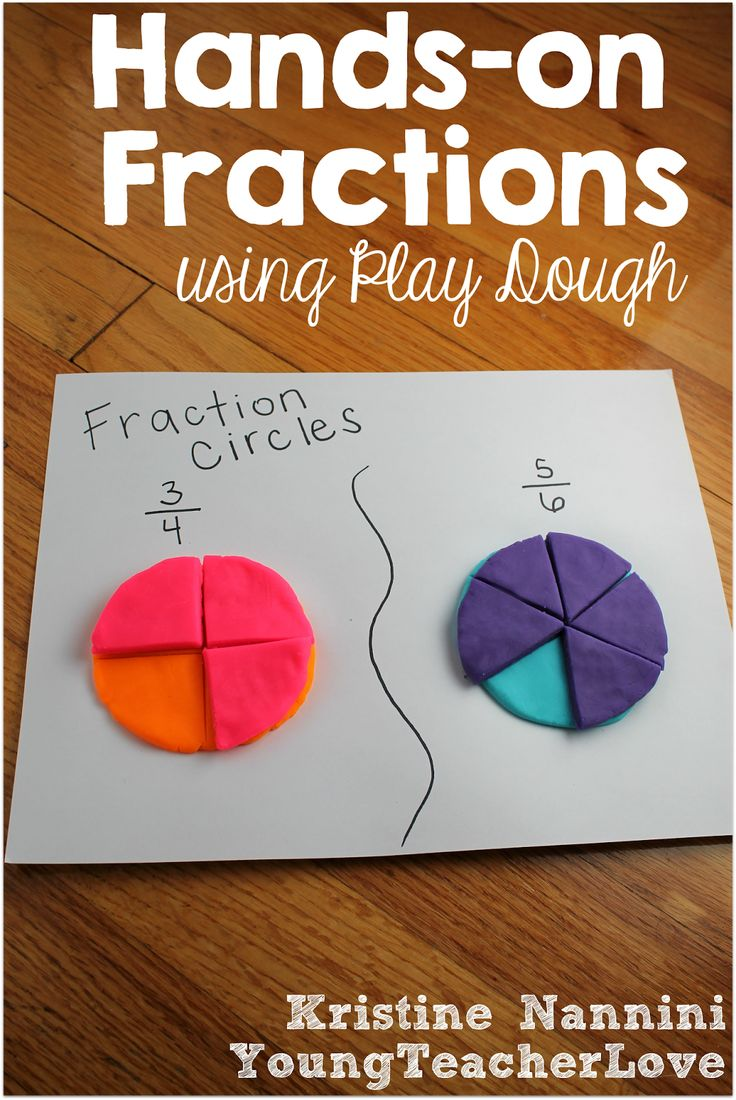 Hands-on Fractions using Play Dough and a FREE Printable Fraction Anchor Chart - Young Teacher Love by Kristine Nannini