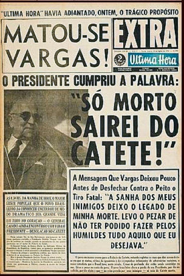 Suicídio de Getulio Vargas - 24 de agosto de 1954 no Palácio do Catete https://palavrastodaspalavras.wordpress.com/2011/08/24/carta-testamento-do-ex-presidente-getulio-vargas-57-anos-de-seu-suicidio-rio-de-janeiro/